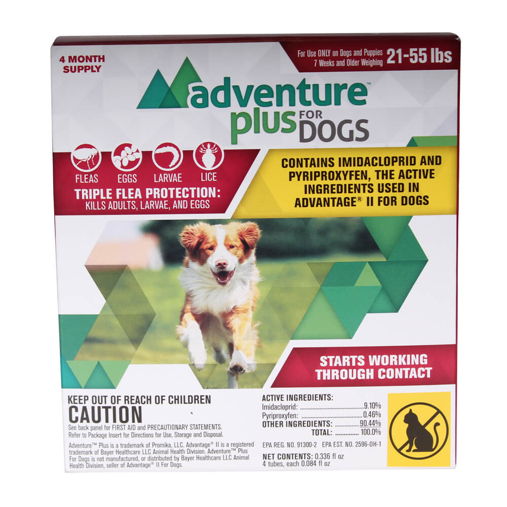 Adventure Plus For Dogs 21-55 lbs, 4 Month Supply