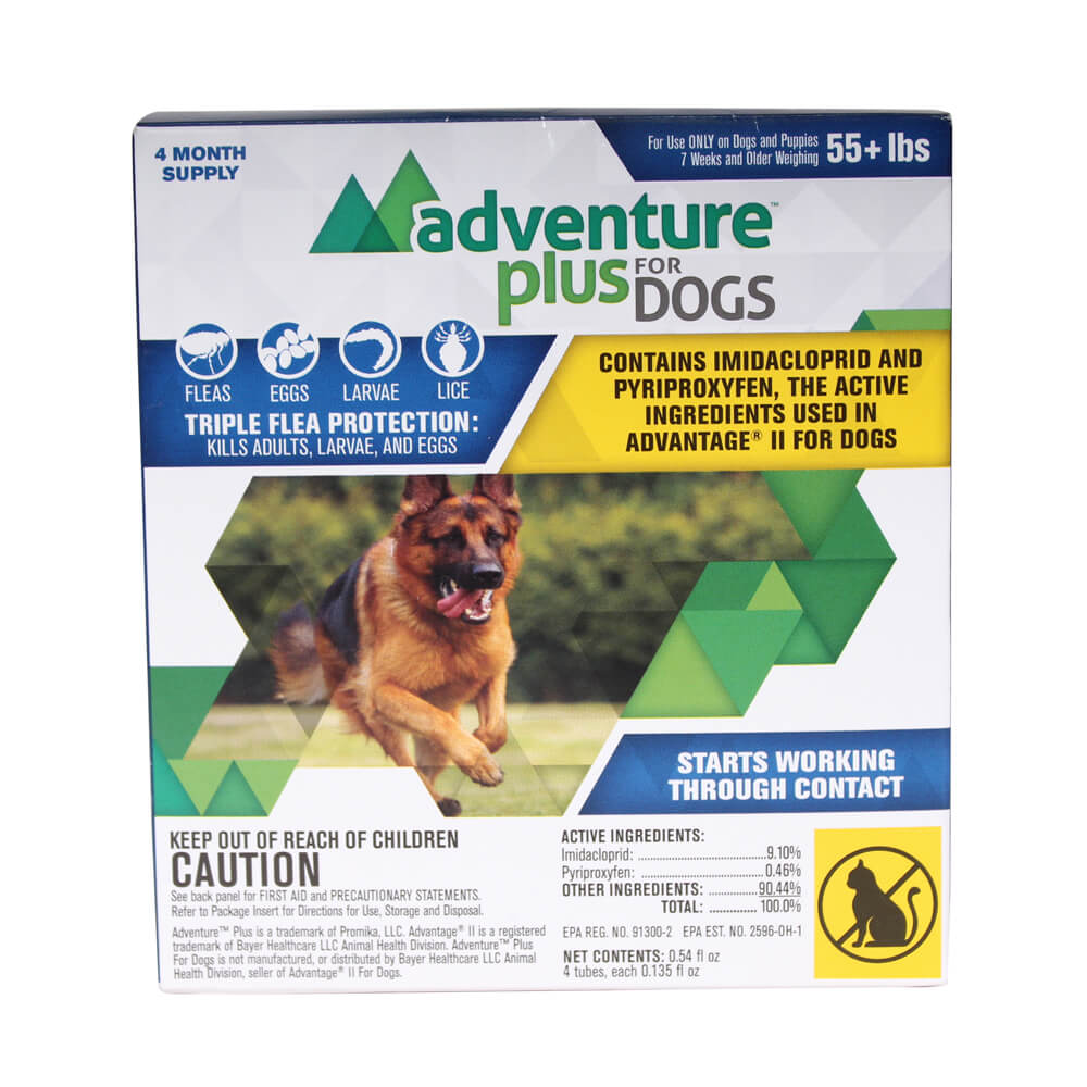 Adventure Plus For Dogs 56 lbs and Over, 4 Month Supply