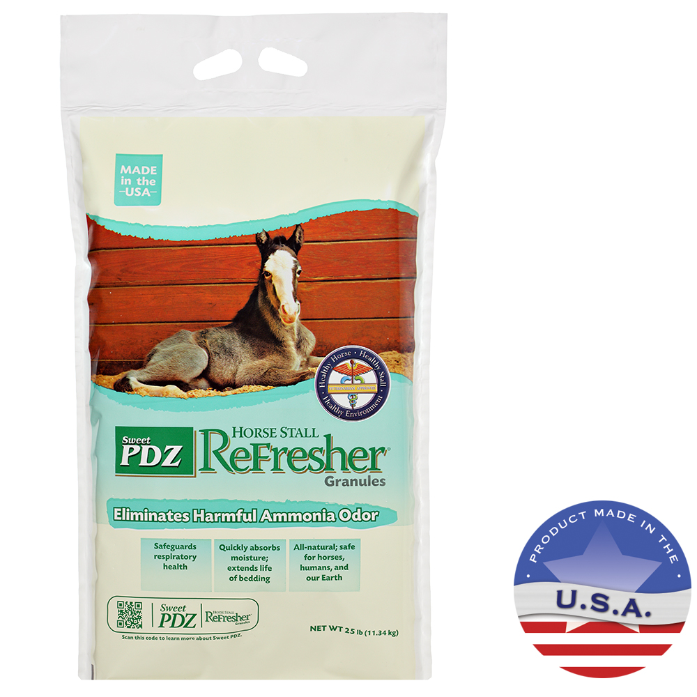 MannaPro Sweet PDZ Horse Stall Refresher Granules, 25lbs