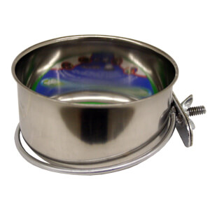 Stainless Steel Coop Cups with Steel Clamp Holders