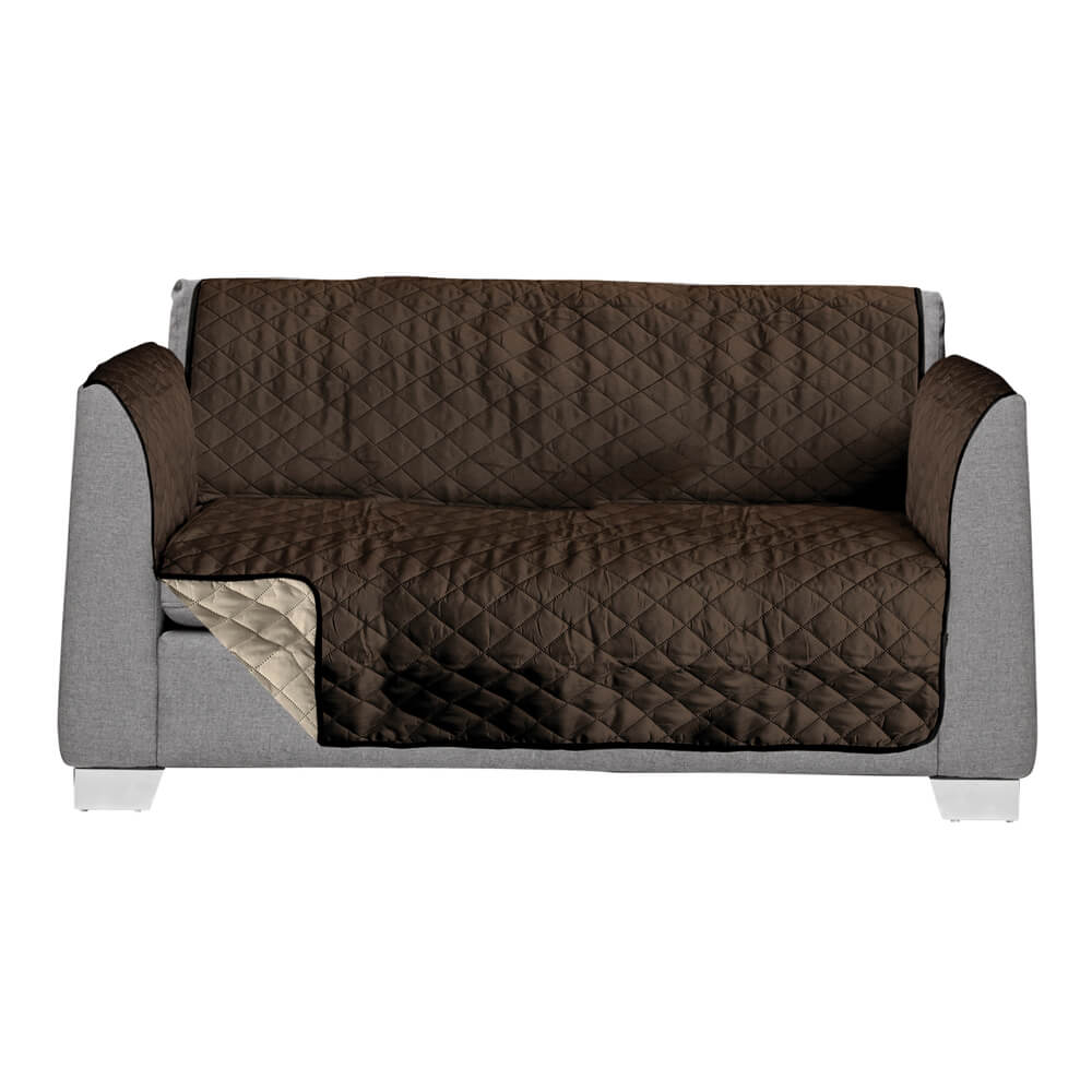 Love Seat Cover Brown/Tan