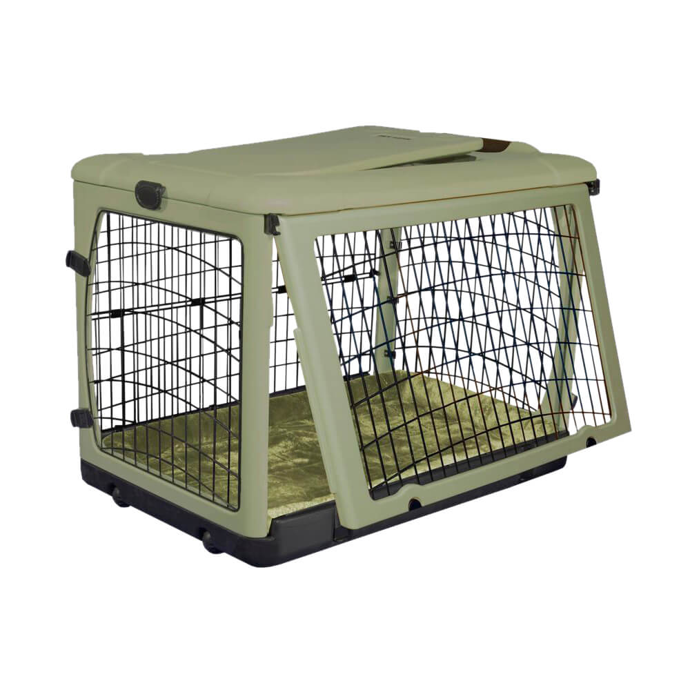 The Other Door Steel Crate With Plush Pad Sage 42 Quot