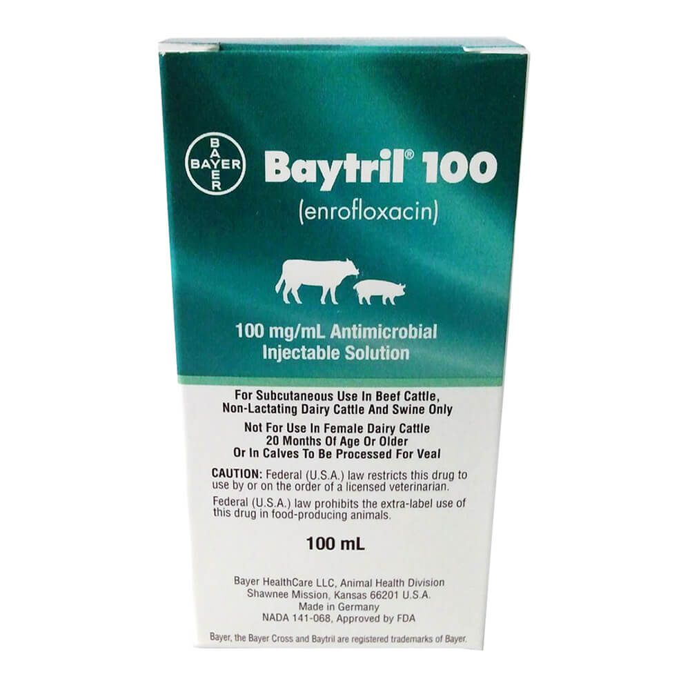 Baytril 100 Injectable, 100 ml, Rx