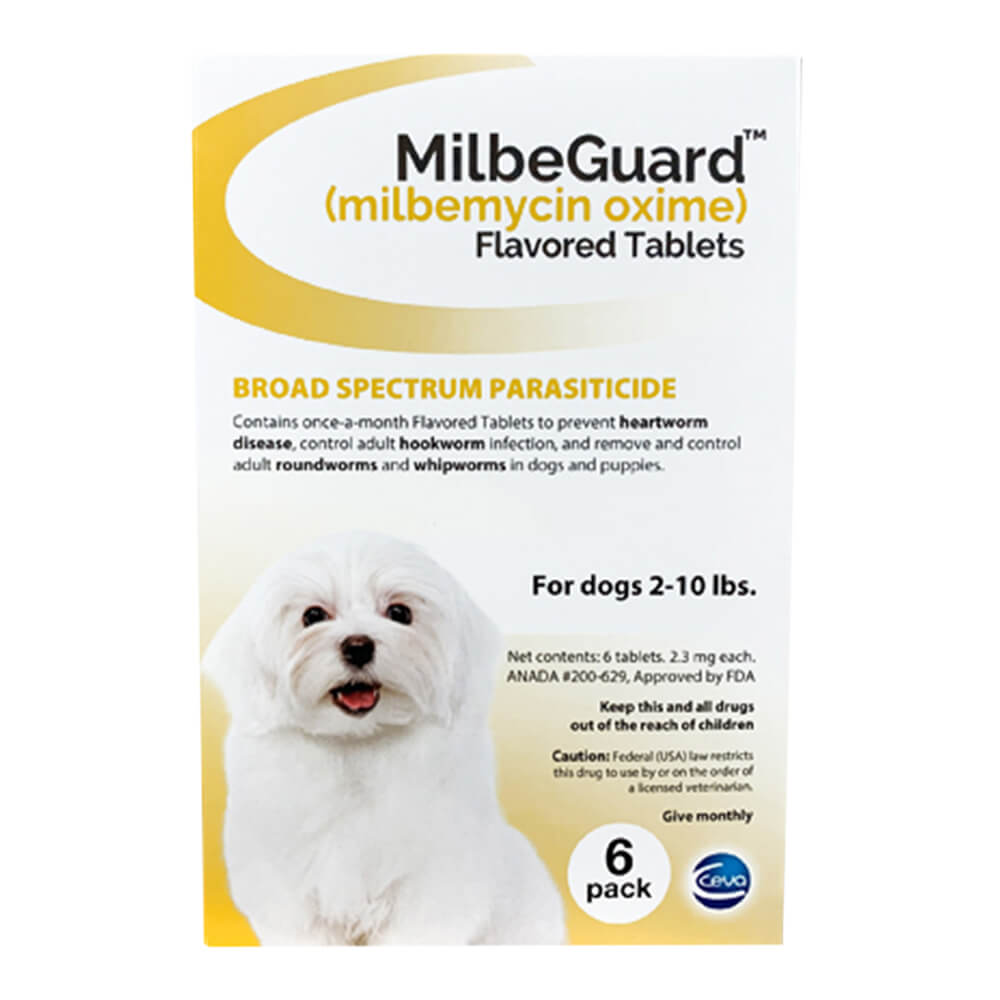 Rx, Milbeguard Flavored Tablets, Dogs 2-10lbs, 6pk