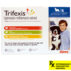 Trifexis Rx, 40.1-60 lbs (Blue), 6 month