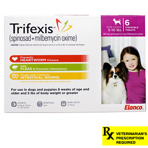 Trifexis Rx, 5-10 lbs, 6 month (Pink), 6 month