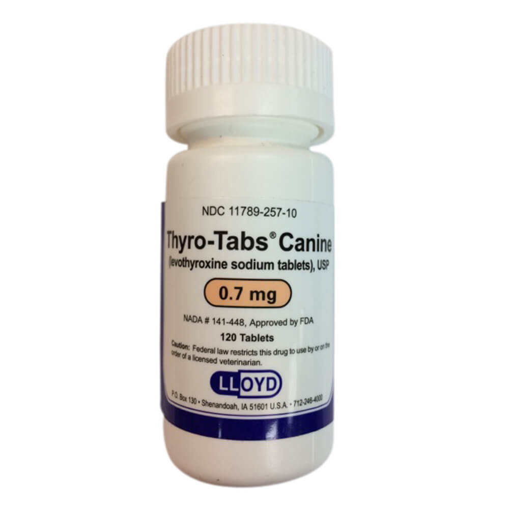Thyro-Tabs Rx, 0.7 mg x 120 ct