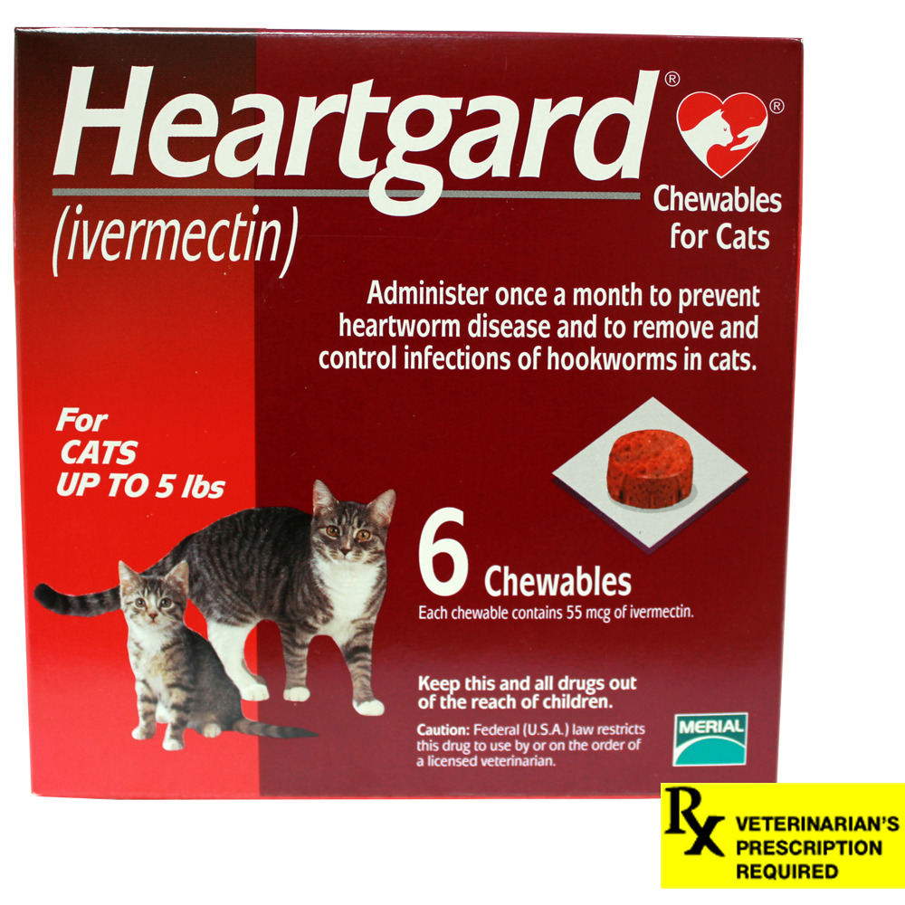 Heartgard Rx for Cats, 0-5 lbs