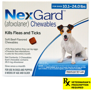 NexGard for Dogs Rx, 10.1-24.0 lbs, 3 month