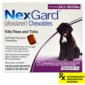 NexGard for Dogs Rx, 24.1-60 lbs, 6 month