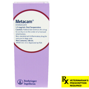 Metacam Oral Suspension Rx, 1.5 mg/ml x 100 ml