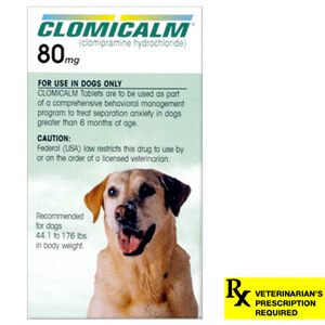 Clomicalm Rx, 80 mg x 30 ct, For Dogs 44.1 - 176 lbs (Green)