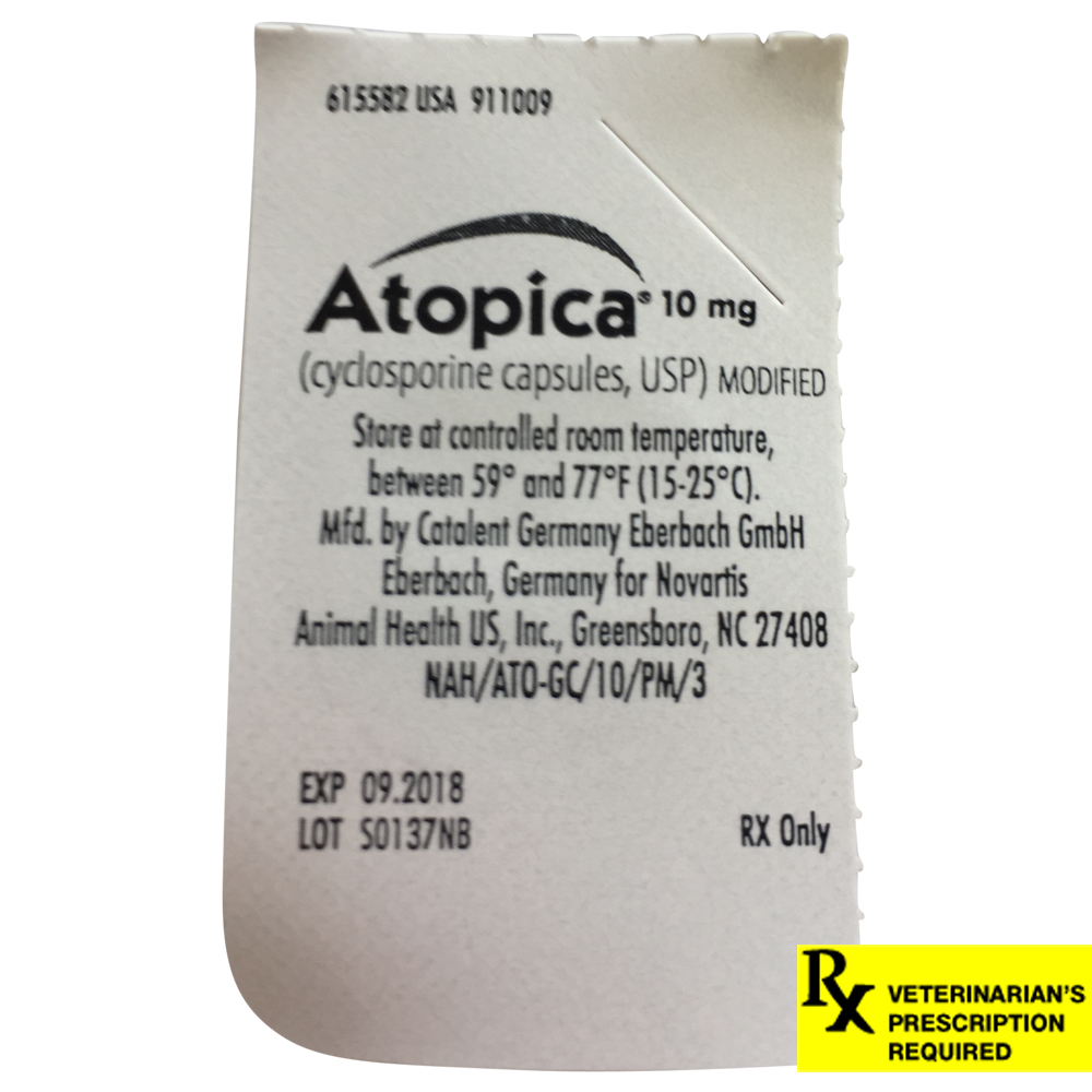 Rx Atopica Green, 10mg, 4-9 lbs Single Tablet