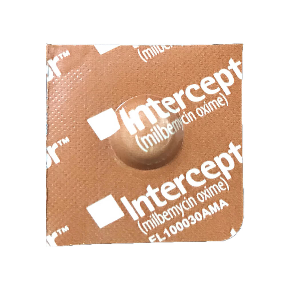 Interceptor Rx, 2-10 lbs Dog, Brown, Single
