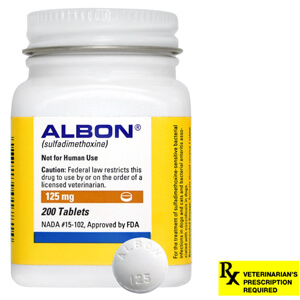 Albon Rx, 125 mg x 200 ct