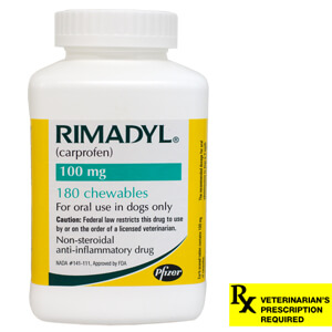 Rimadyl Rx, Chewables, 100 mg x 180 ct