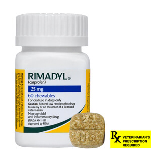 Rimadyl Rx, Chewables, 25 mg x 60 ct