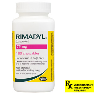 Rimadyl Rx, Chewables, 75 mg x 180 ct