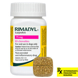 Rimadyl Rx, Chewables, 75 mg x 30 ct