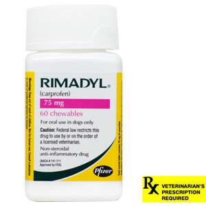 Rimadyl Rx, Chewables, 75 mg x 60 ct