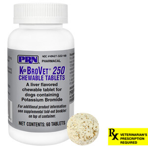 K-BroVet Rx, Chewable Tablets, 250 mg x 60 ct