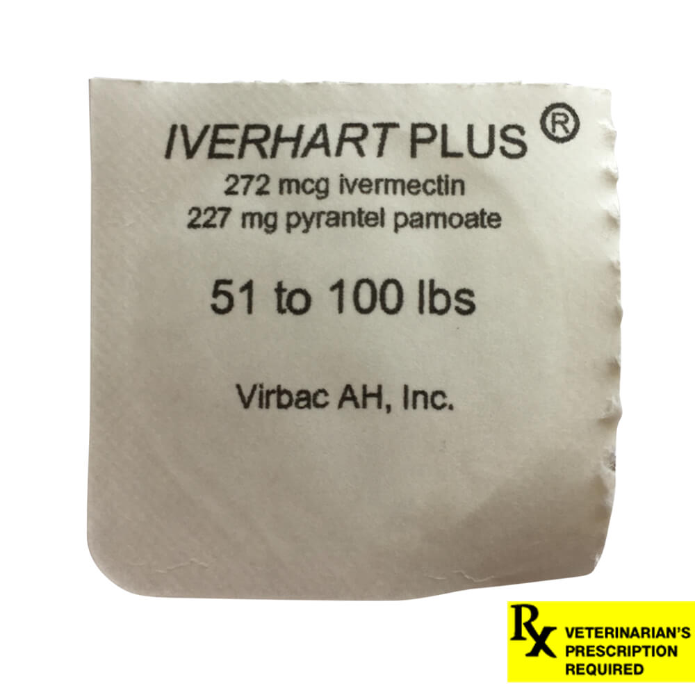 Rx Iverhart Plus 51-100lbs Single Tab
