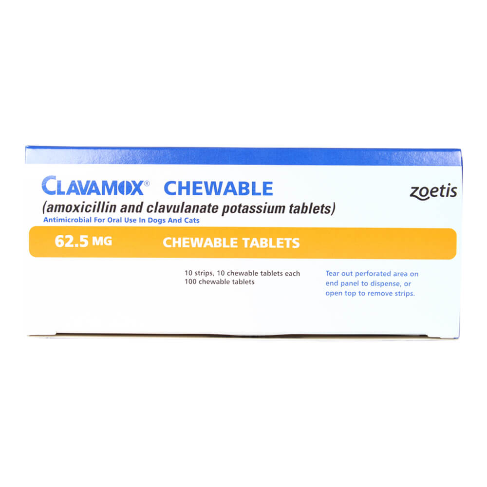 Rx, Clavamox Chewable Tablets 62.5mg, 100ct