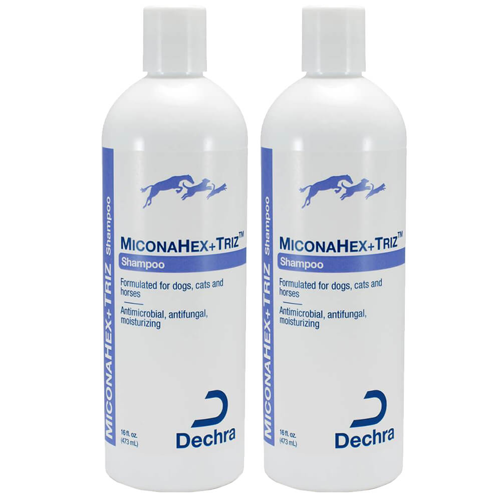 MiconaHex+ Triz Shampoo for Dogs, Cats and Horses, 16 fl oz, 2pk