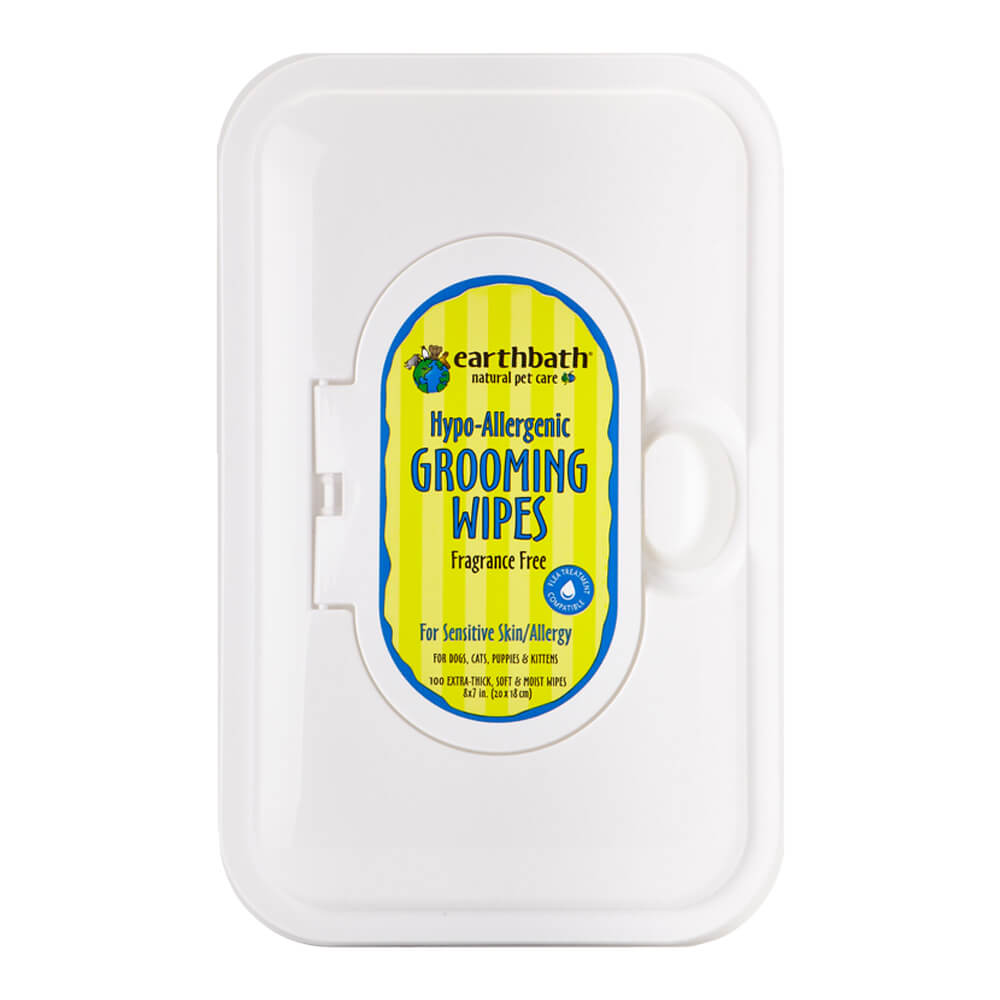 Grooming Wipes Hypo Allergenic Fragrance Free 100 Ct