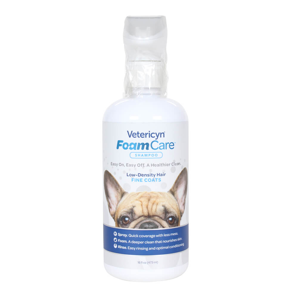 Vetericyn FoamCare Low Density Fine Coats Spray Shampoo, 16 oz