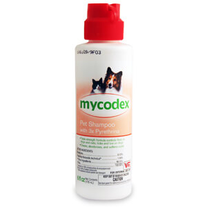 Mycodex Pet Shampoo w/ 3x Pyrethrins (P3), 12oz