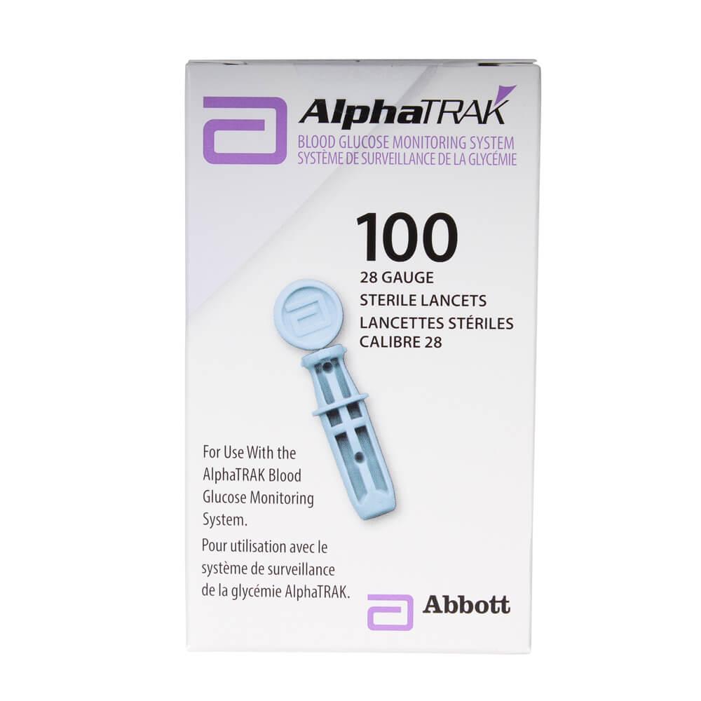 Alphatrak II 28 Gauge Sterile Lancets, 100 Ct