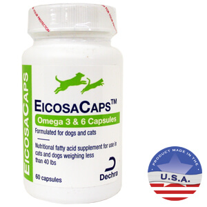 EicosaCaps Omega 3 & 6 for Dogs and Cats, 60 Capsules
