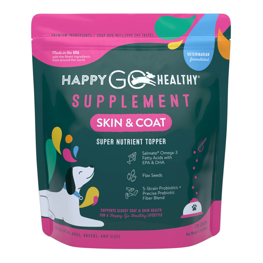 Happy Go Healthy, Skin and Coat, Large, 120 scoops