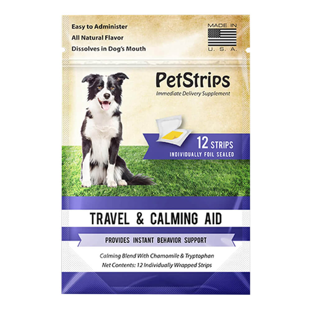 PetStrips Travel & Calming Aid for Dogs 12 Strips