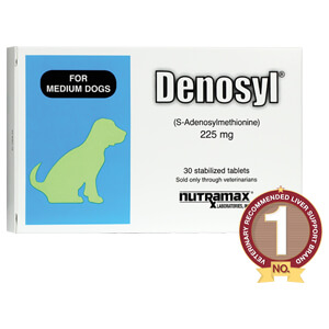 Denosyl for Medium Dogs, 225 mg, 30 Stabilized Tablets