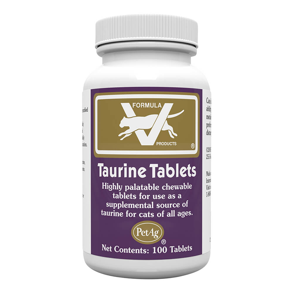 Formula V Taurine Tablets For Cats 250mg X 100 Ct