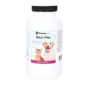 Bitch Pills, for Dogs and Cats, 120 ct