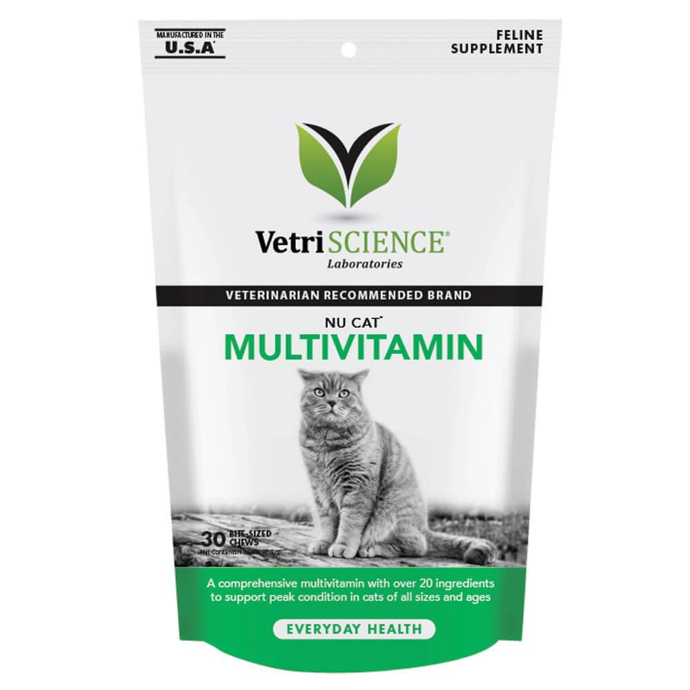Nu Cat Multivitamin for Cats, 30 Bite-Sized Chews