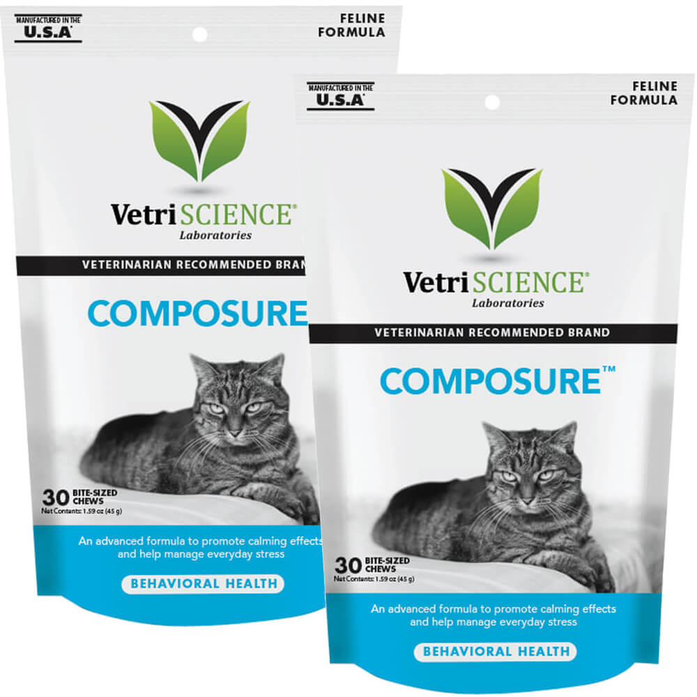 Composure for Cat, 30 Bite Sized Soft Chews, 2pk