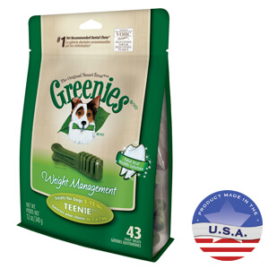Greenies Lite Formula Treat Pak, Lite, for overweight dogs 5-15 lbs, 43 ct