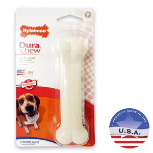Nylabone DuraChew Bone, Chicken Flavor, Medium Dog up to 35 lbs