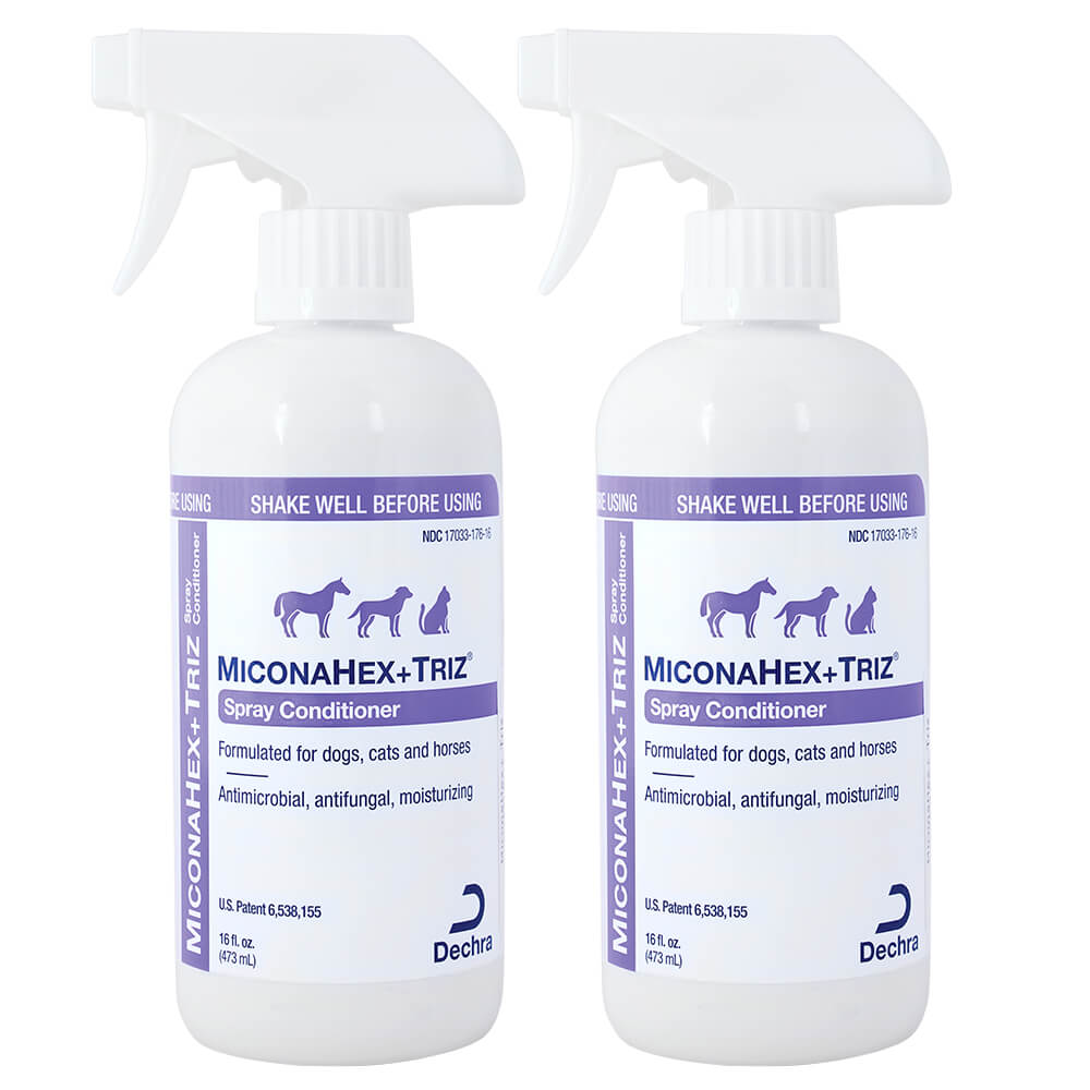 Miconahex+ Triz Spray for Dogs, Cats and Horses, 16 fl oz, 2pk