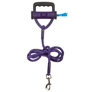 Power Leash Purple with Waste Bag Dispenser, 6'