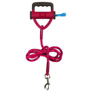 Power Leash Pink with Waste Bag Dispenser, 6'