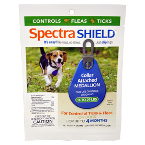Spectra Shield Medallion, 4 Month Dogs 14-29 lbs.
