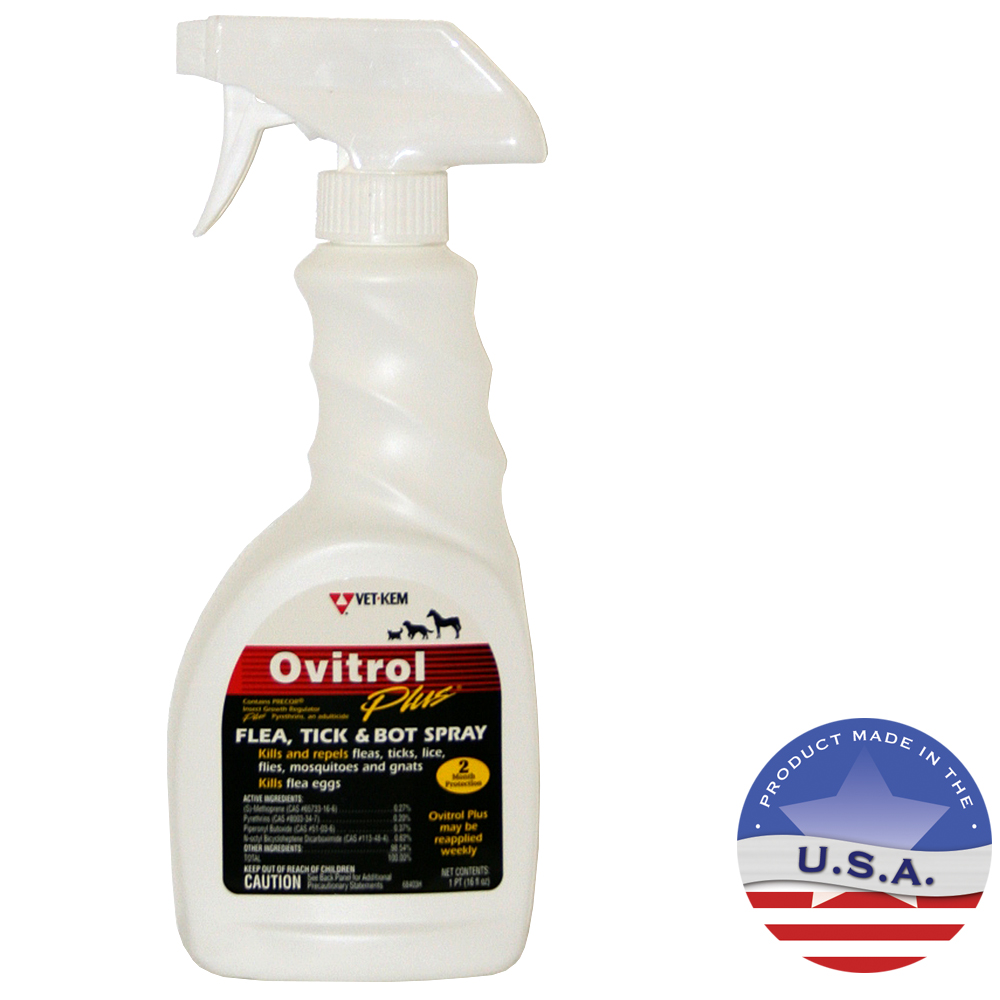 Vet Kem Ovitrol Plus Flea Tick Amp Bot Spray