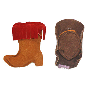 Suede Boot or Hat Toy