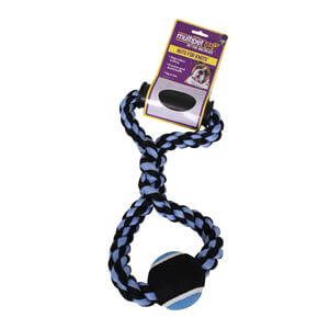 "Nuts for Knots Rope Tug with Tennis Ball, 14"" Assorted"