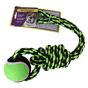 Nuts for Knots Rope Tug with  Tennis Ball, 20